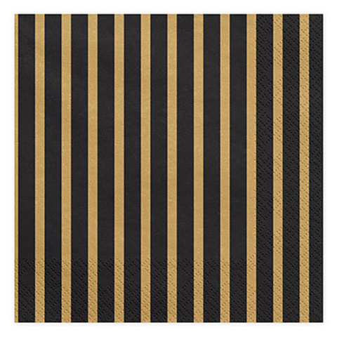 Салфетки Black&Gold Линии, 20 штук