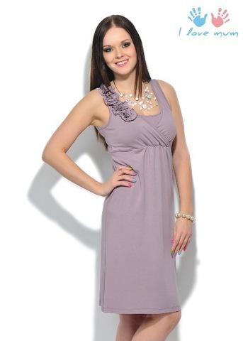 Платье «Шерше ля фам» бузина для беременных и кормящих