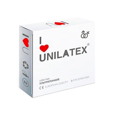 Ультратонкие презервативы Unilatex Ultra Thin - 3 шт.