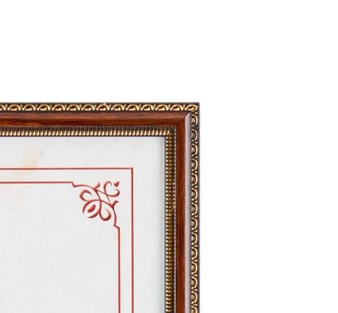 Фоторамка Кружево 15х15 Формат-А (коричневый)