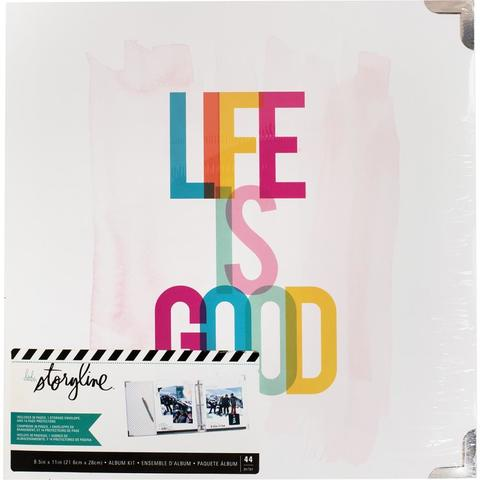 Папка на кольцах для Project Life ( для файлов 22х28 см) Heidi Swapp Storyline2 D-Ring Album  -Life Is Good