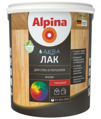 Alpina/Альпина Аква Лак на водной основе для стен и потолков