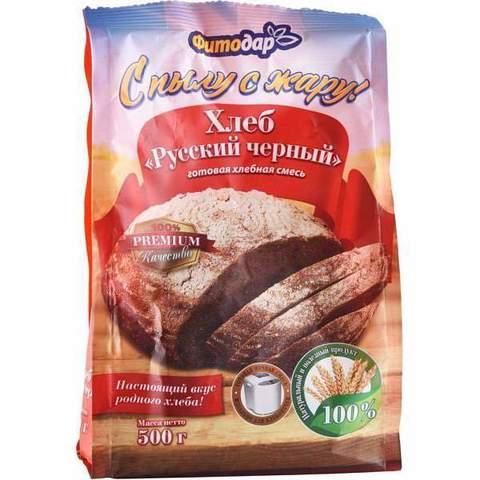 """Смесь мучная Хлеб """"Русский черный"""" Фитодар, 500г"""