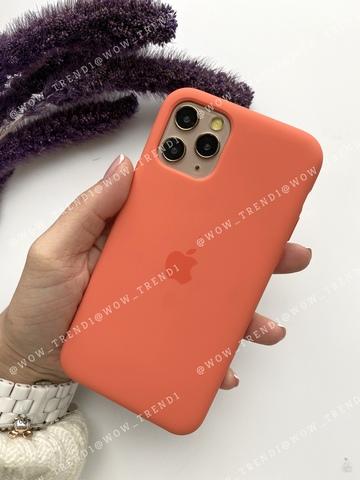 Чехол iPhone 11 Silicone Case (orange) /clementine/ спелый клементин original quality