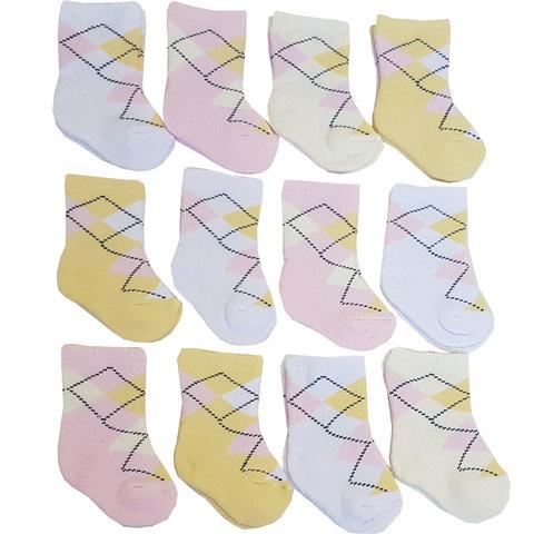Папитто. Носки махровые Ромбы для девочки