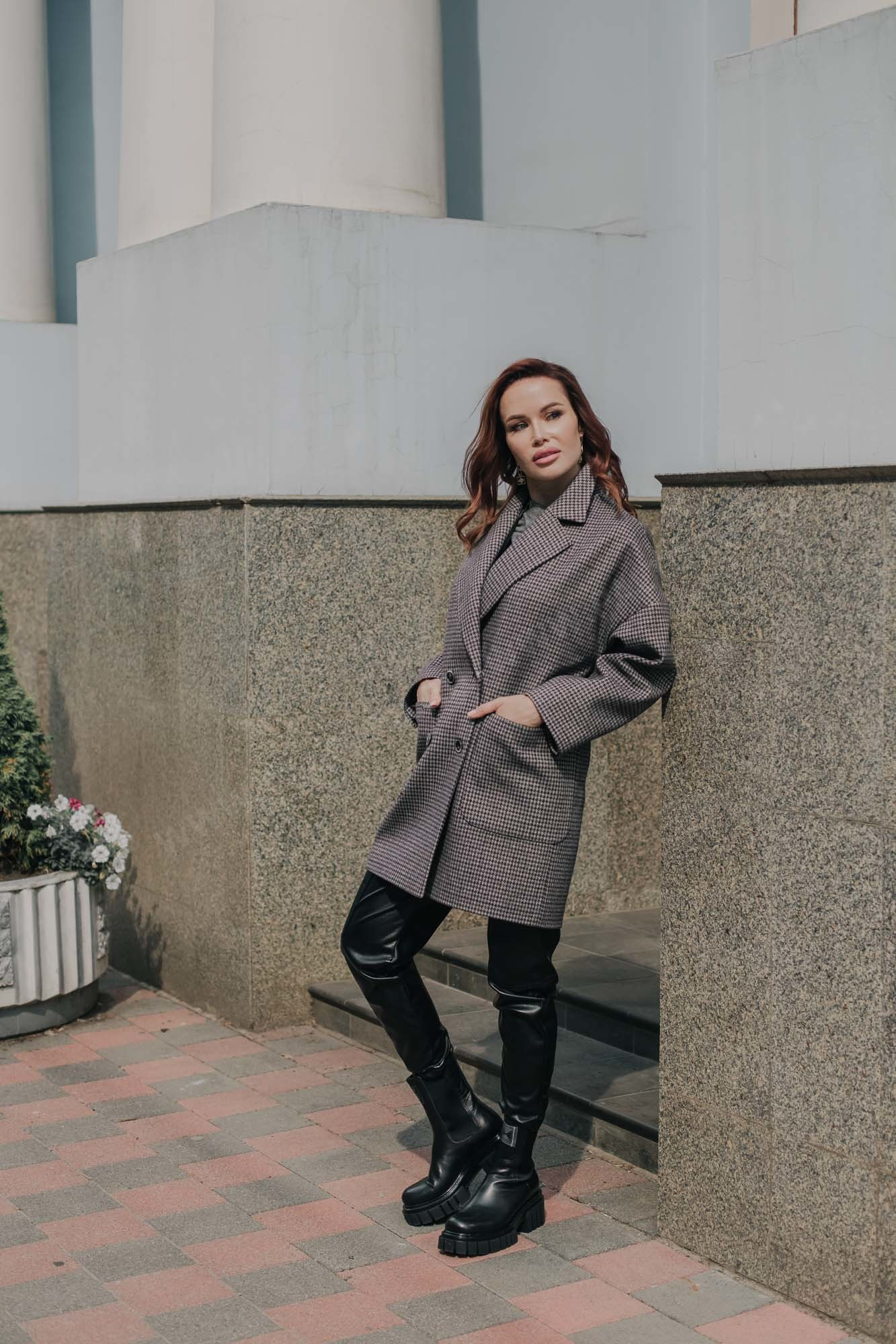Пальто женское укороченное