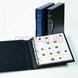 Альбом GRANDE classic, с шубером, с 10 листами для 200 монет в холдерах, черный
