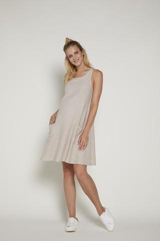 Платье для беременных 09376 бежевый
