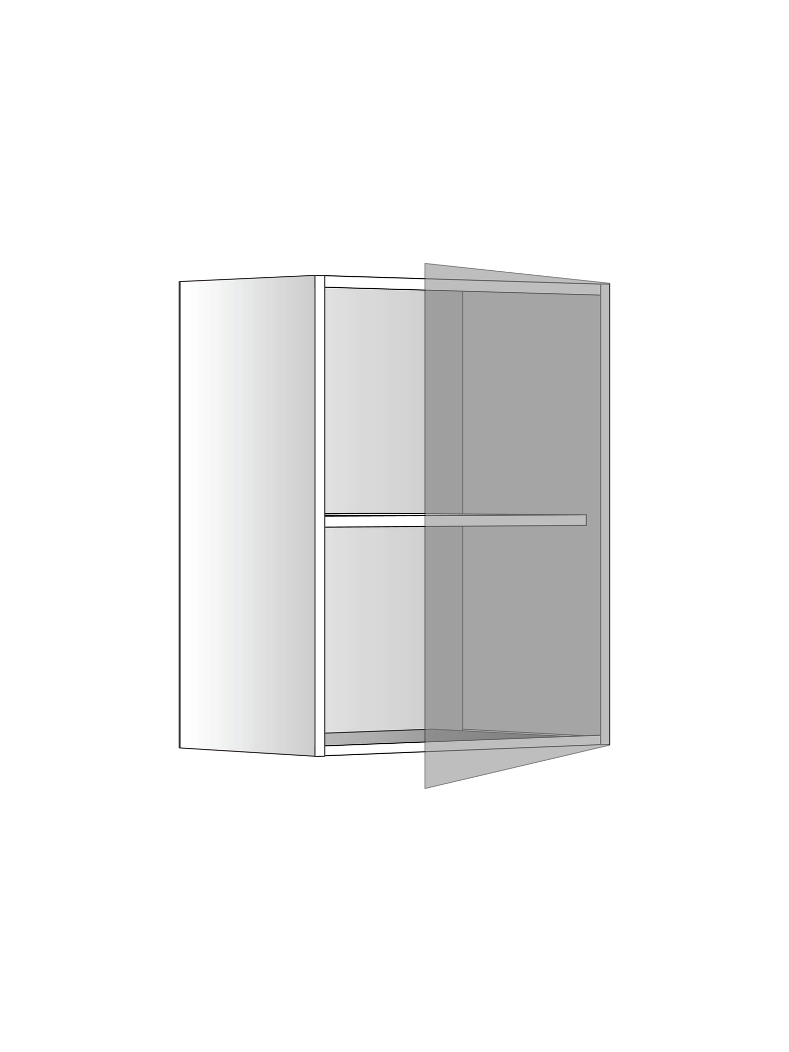 Верхний шкаф c одной полкой, 600х450 мм