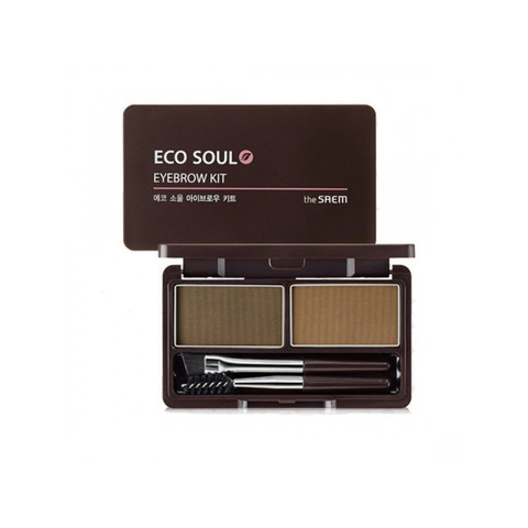 Пудра для бровей Eco Soul Eyebrow Kit 01 Brown 2*2,5 гр