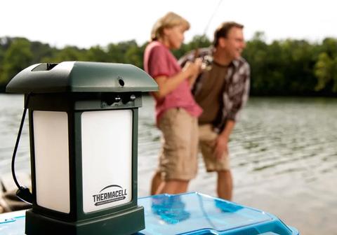 Лампа противомоскитная ThermaCell Outdoor Lantern, на рыбалке 3.