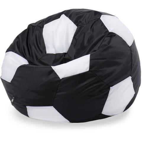 Пуффбери Внешний чехол Кресло-мешок мяч  XXL, Оксфорд Черный и белый
