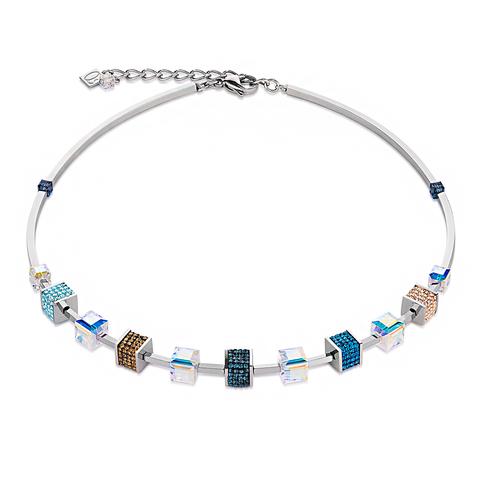 Колье Coeur de Lion 4906/10-0706 цвет мультиколор, синий, голубой, бежевый, прозрачный