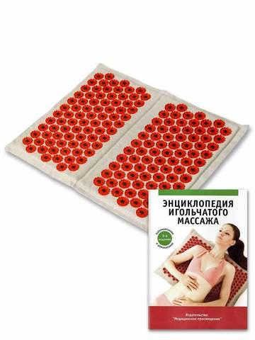 Тибетский аппликатор для ступней на мягкой подложке, красный
