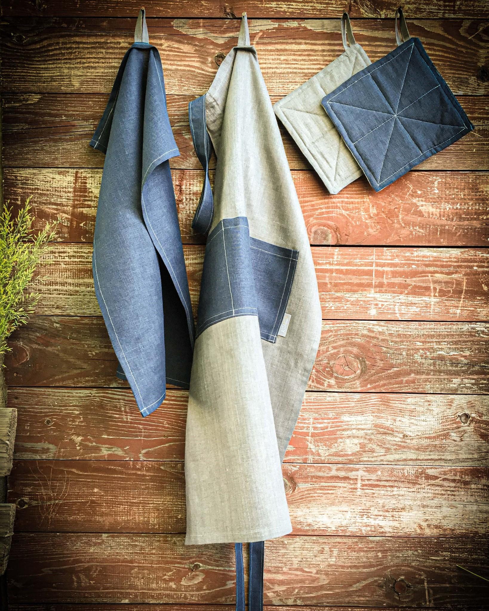 Набор для барбекю - фартук, полотенце, прихватки