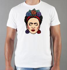 Футболка с принтом Фрида Кало (Frida Kahlo) белая 007