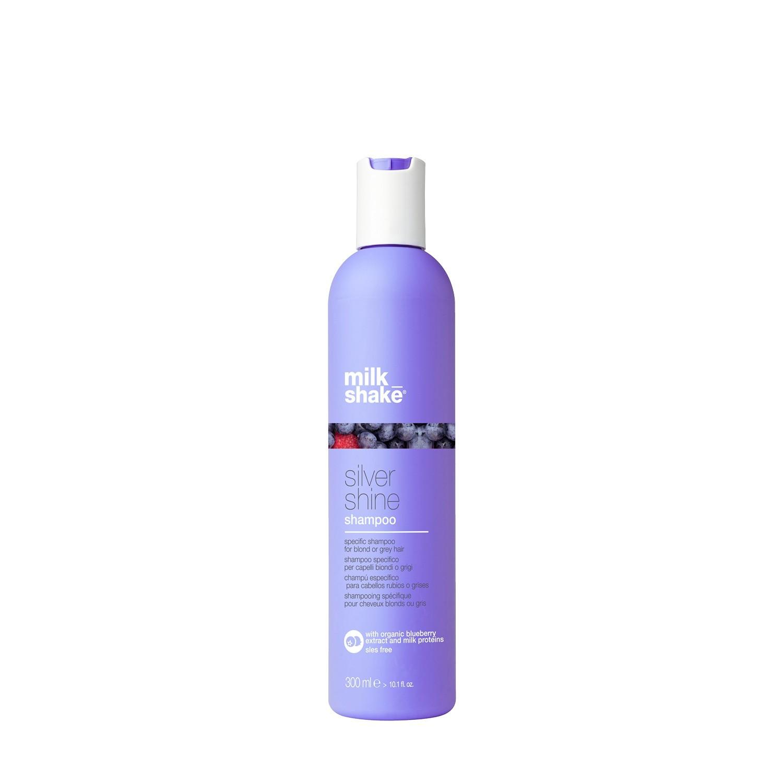Пигментированный шампунь для осветленных и седых волос / Milk Shake silver shine 300 мл