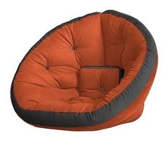 Кресло Farla Lounge Оранжевое с серым