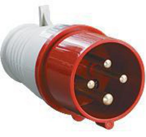 Вилка 024 3Р+РЕ 32А 380В IP44 TDM
