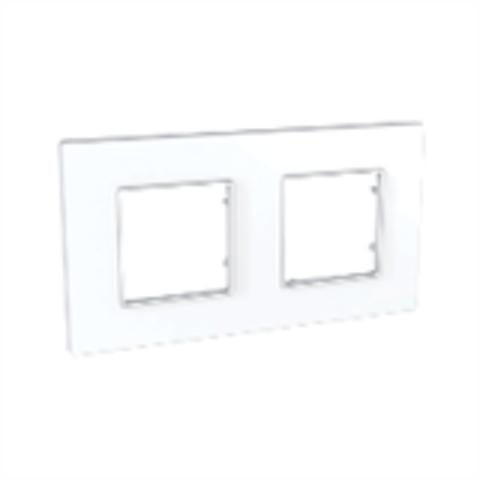 Рамка на 2 поста. Цвет Белый. Schneider Electric Unica Quadro. MGU2.704.18