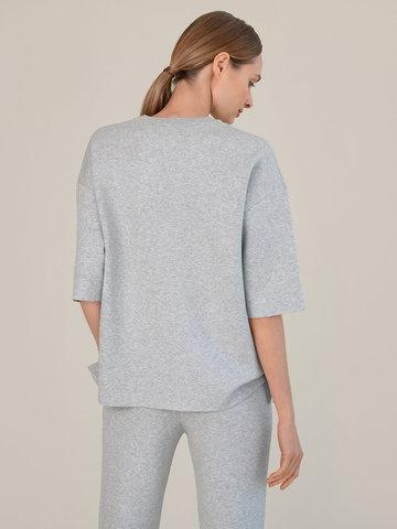 Женский джемпер цвета серый меланж из вискозы - фото 3