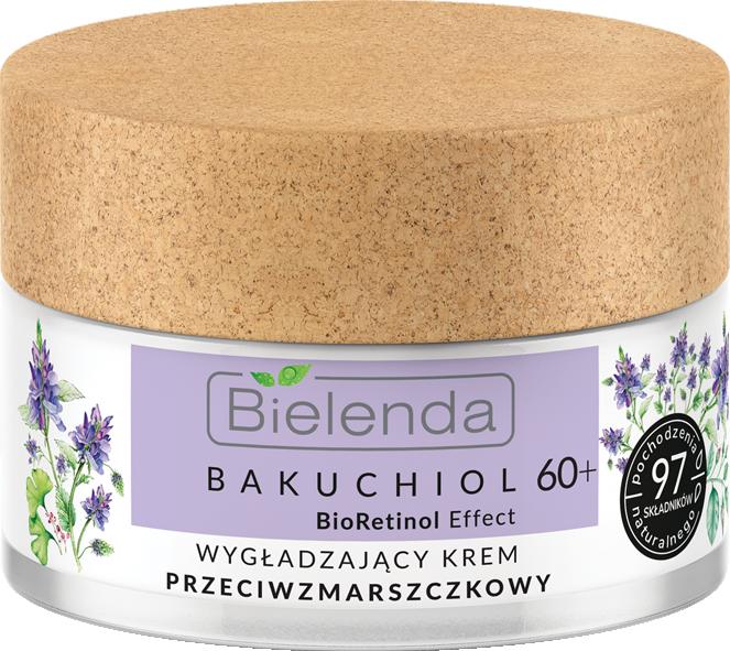 BIELENDA BAKUCHIOL BioRetinol Effect укрепляющий крем для лица против морщин 60+ 50мл