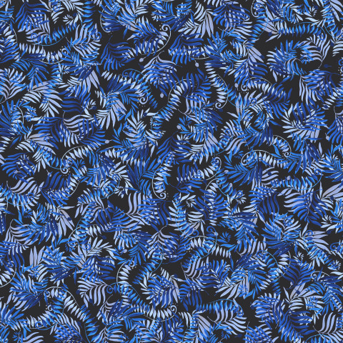 Синие веточки на чёрном фоне