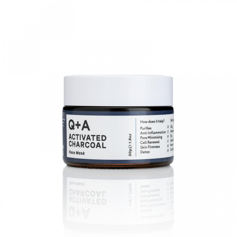 Маска для лица Q+A Activated Charcoal Detox Face Mask 50 г.