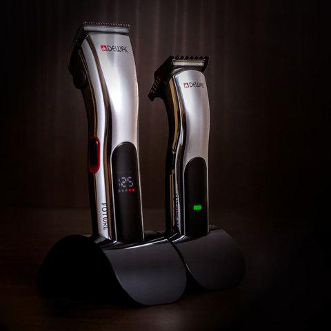 Машинка для стрижки окантовочная Dewal Future, аккум/сетевая, 1 насадкa, серебристая
