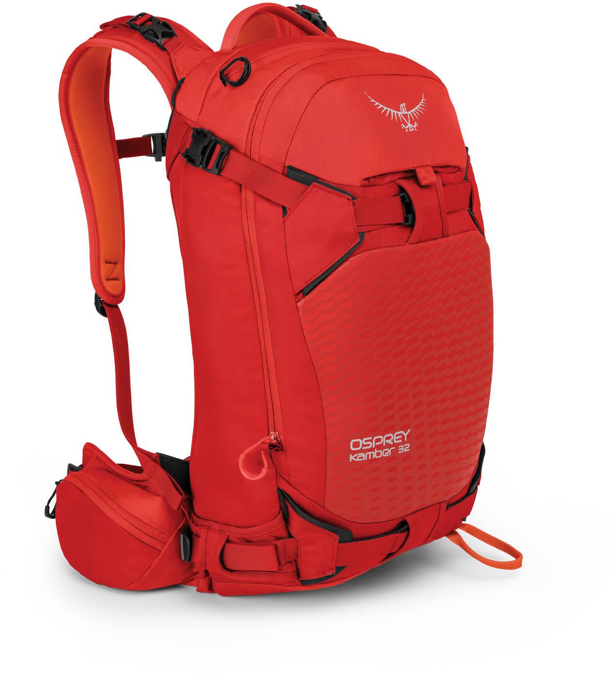 Рюкзаки для сноуборда Рюкзак сноубордический Osprey Kamber 32 Ripcord Red Kamber_32_Side_Ripcord_Red_web.jpg