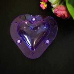 Поликарбонатная форма для шоколада 3D СЕРДЦЕ БОЛЬШОЕ с магнитами 10х9см