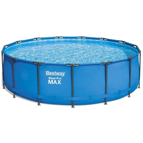 Каркасный круглый бассейн Bestway 56438 (457х122 см) с картриджным фильтром и лестницей / 7492