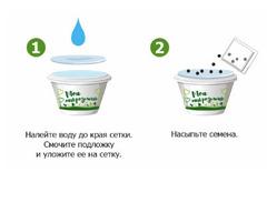 Набор для выращивания микрозелени КРЕСС-САЛАТ - 3 уп., инструкция по применению и семена в комплекте, Здоровья клад