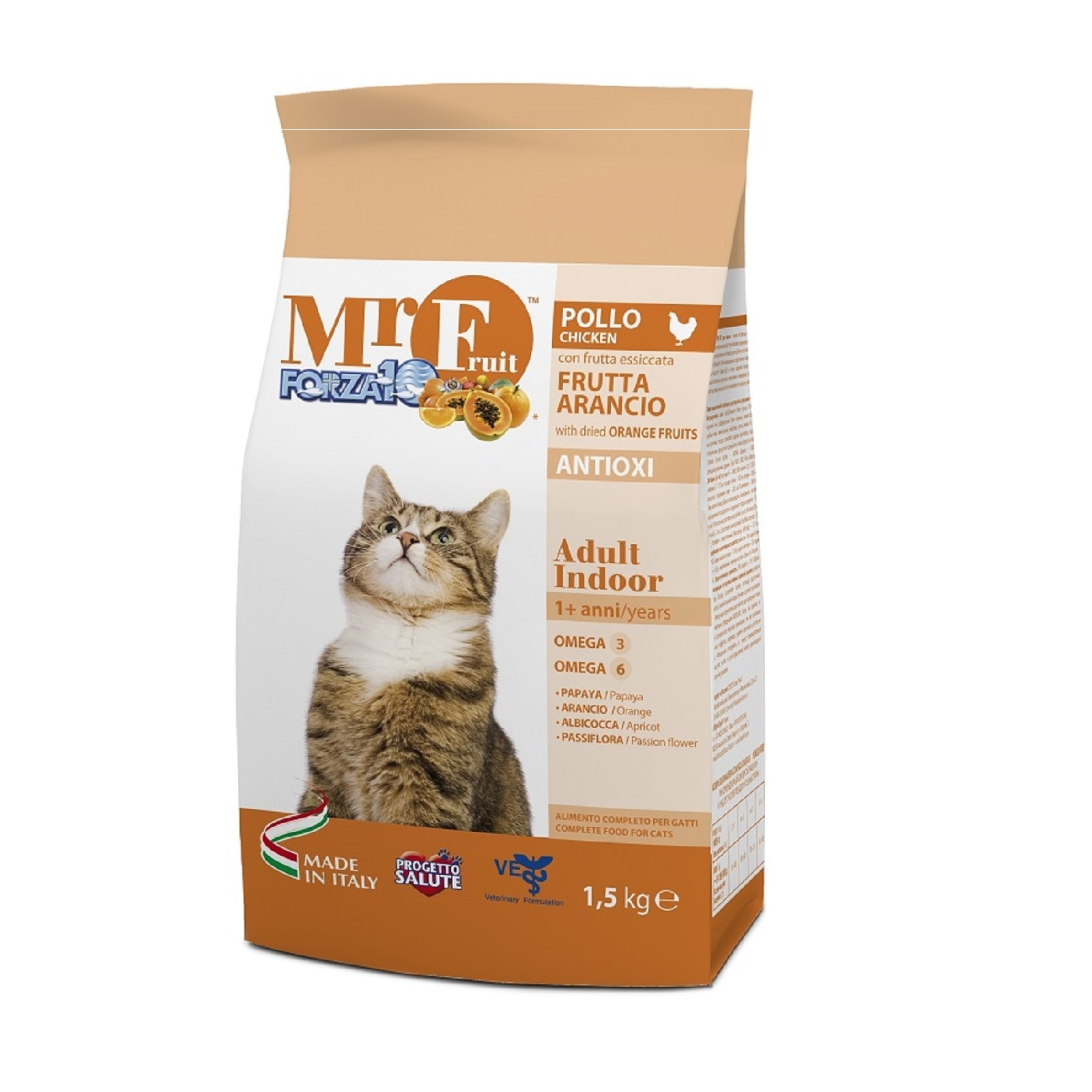 купить Forza10 Mr. Fruit Adult Indoor сухой корм для взрослых домашних кошек с экстрактом оранжевых фруктов