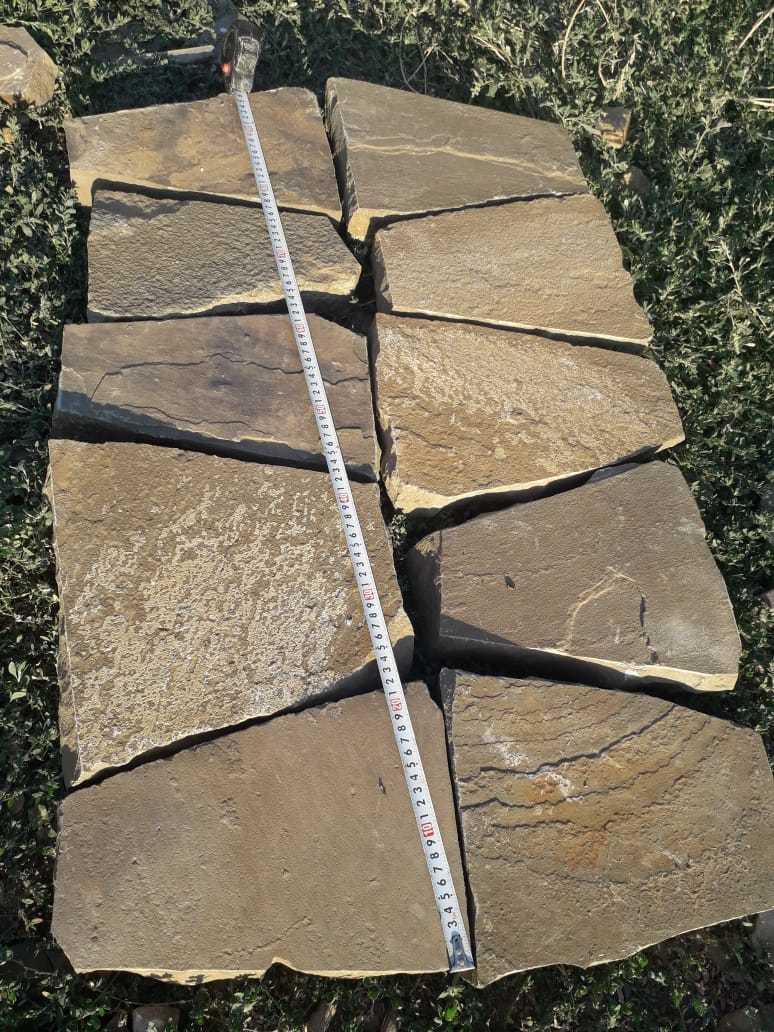 укладка камня на поддон