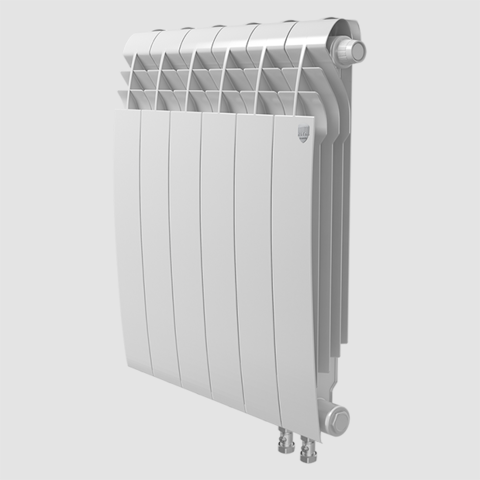 Биметаллический радиатор с правым нижним подключением Royal Thermo Biliner 350 V Bianco Traffico (белый)- 4 секции