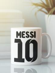 Кружка с изображением Лионель Месси (Lionel Messi) белая 0012