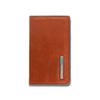 Чехол для кредитных/визитных карт Piquadro Blue Square, оранжевый, 10x6x1,5 см