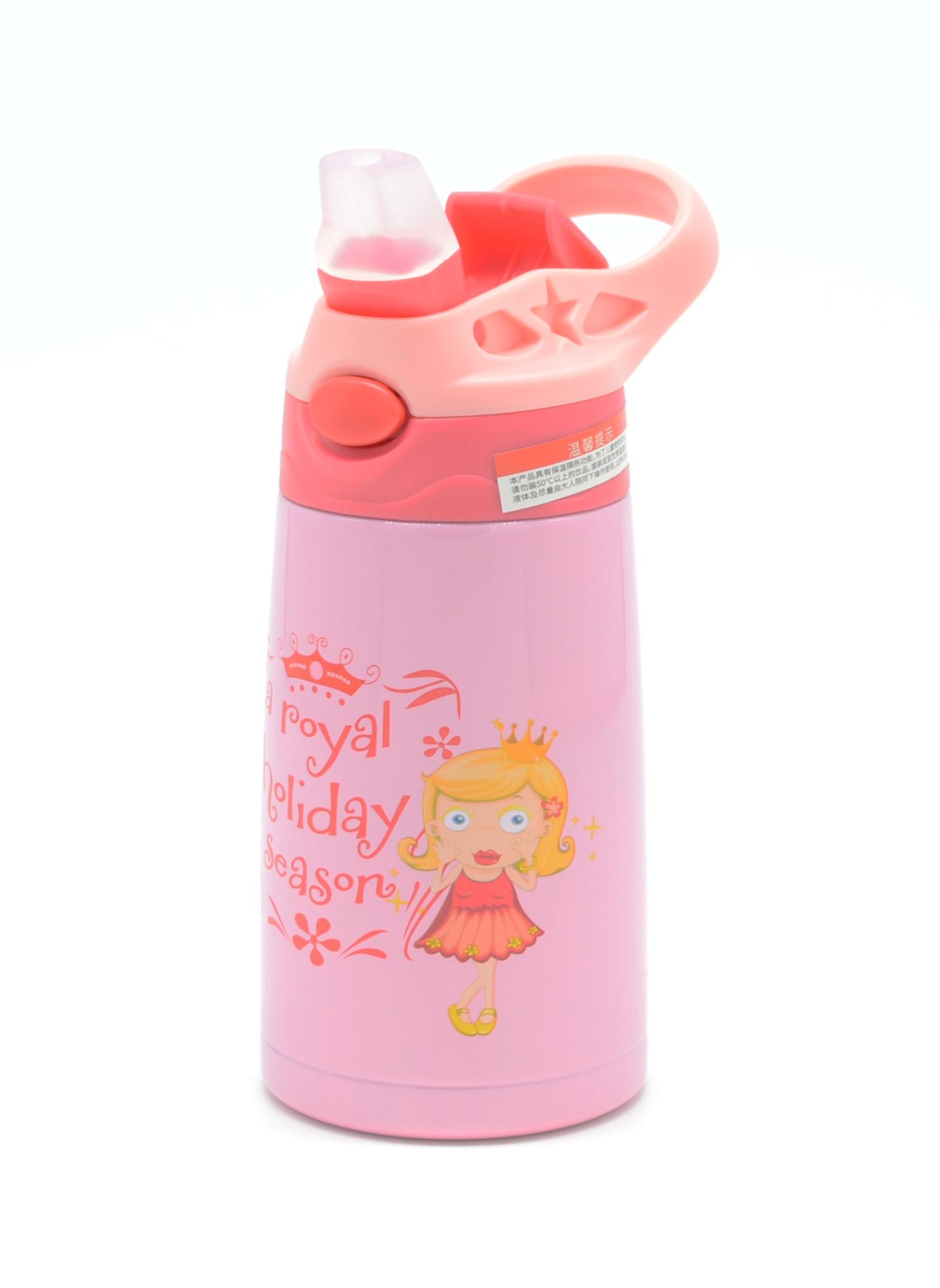Детский термос с выкидной трубочкой So Cute 350 мл. розовый