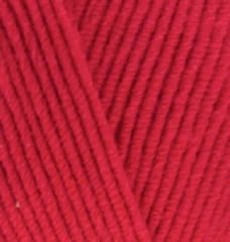Пряжа Cotton gold (Alize) 56 красный, фото