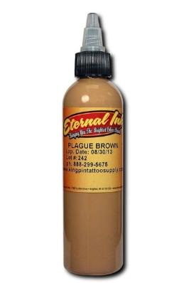 """Краска Eternal """"Plague Brown"""" для татуировки 1/2 унции - 15 мл"""