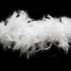Боа из перьев индейки 80 гр., 2м., белый