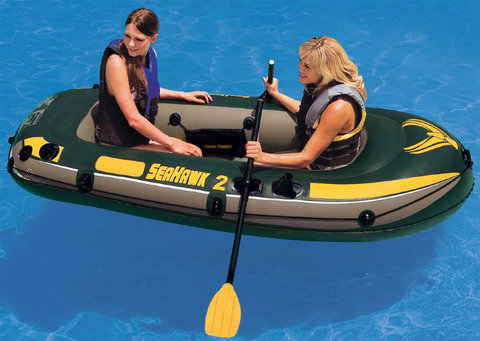 Лодка надувная двухместная Intex Seahawk 200 68347