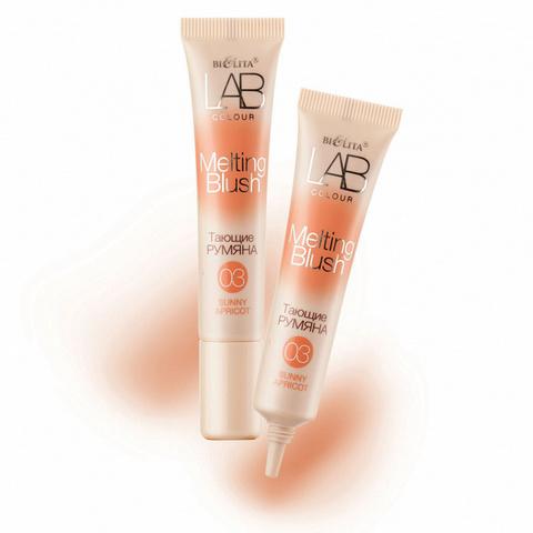 Тающие румяна для лица LAB colour тон 03 Sunny Apricot , 15 мл ( Белита )