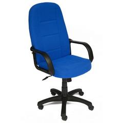 Кресло для руководителя 747 синее (ткань/пластик)
