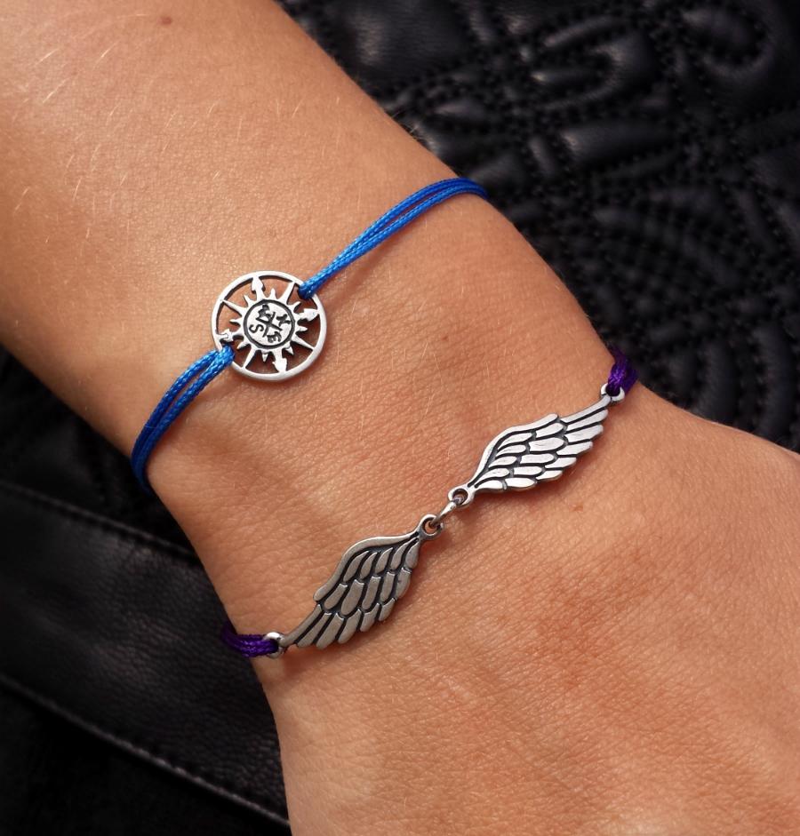 Wings of Soul Bracelet, sterling silver