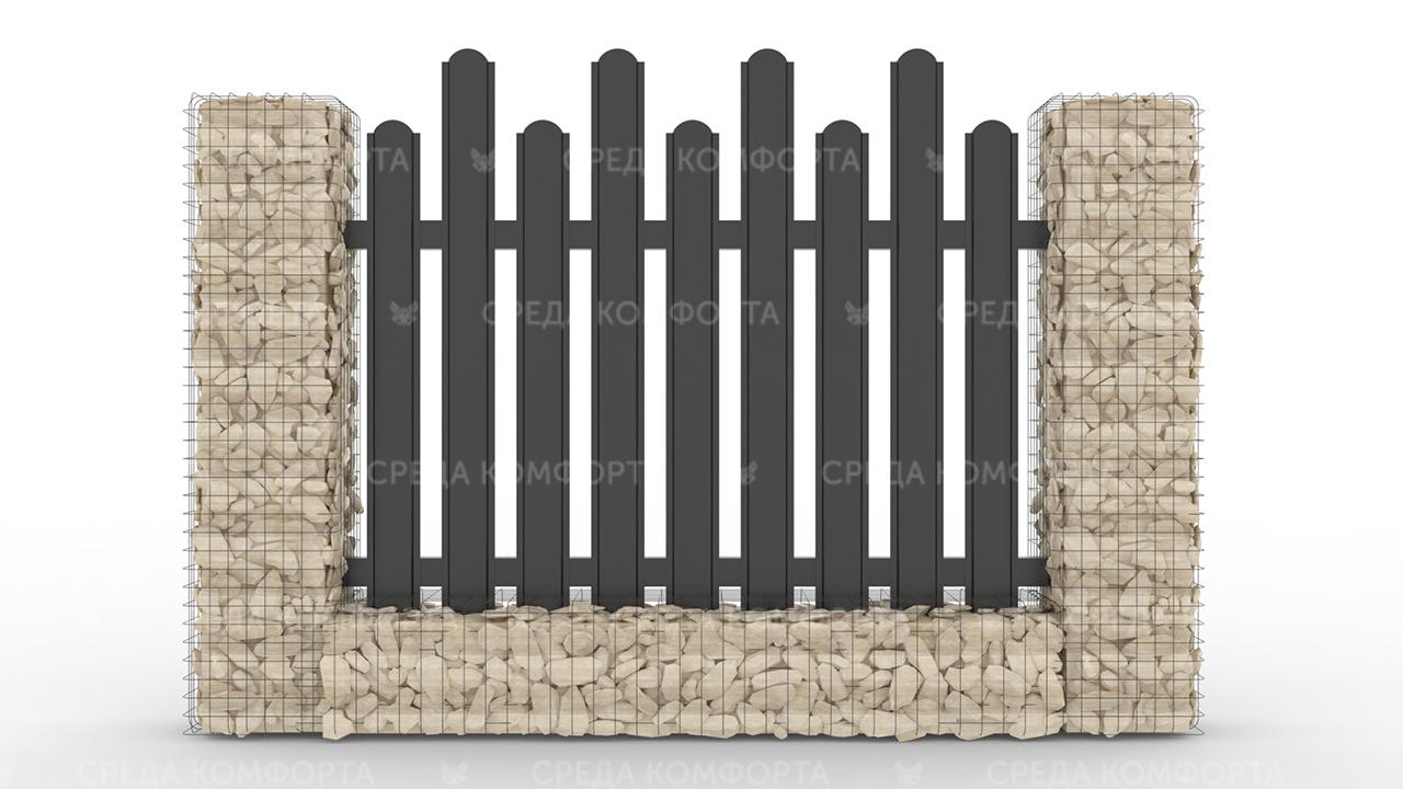 Забор из евроштакетника ZBR0060