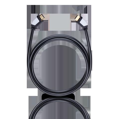 Oehlbach Shape Magic-HS HDMI, black 1.2m, HDMI кабель (#42460)