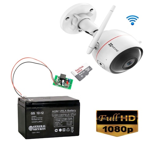 Уличная Wi-Fi камера Ezviz с питанием от аккумулятора (Full HD)