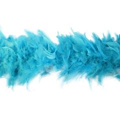 Боа из перьев индейки 80 гр., 2м., бирюзовый